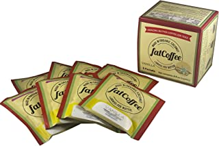 fatCoffee - Amazing Organic Keto Butter Coffee made with Butter from 100% Grass-Fed Cows - The Power Behind Your Butter Coffee - fatCoffee, 8 packets, Vanilla