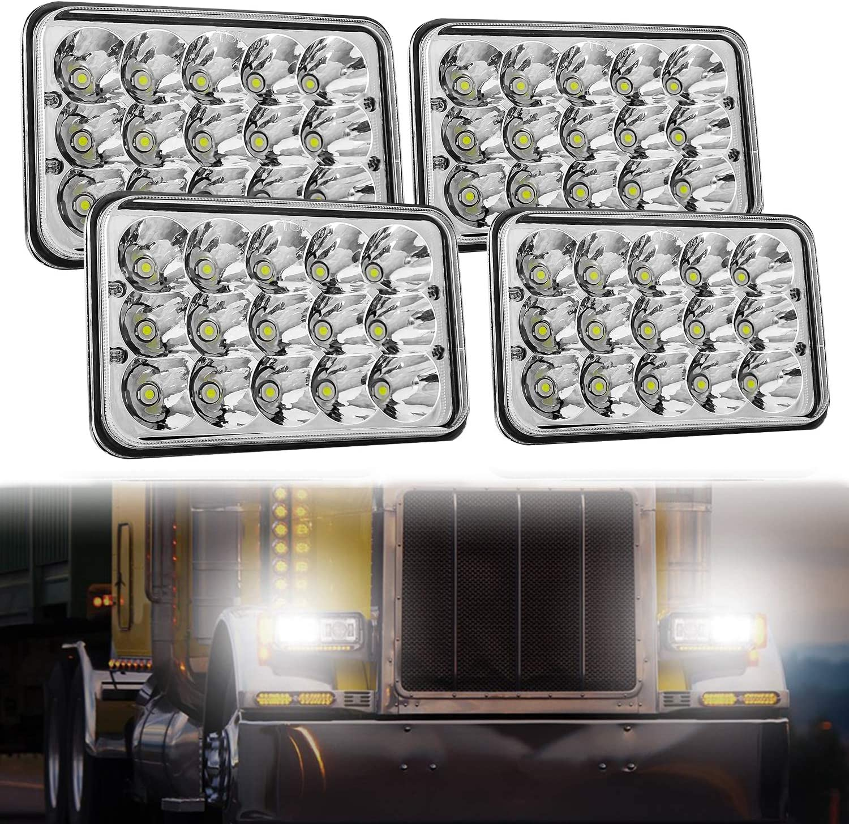 Minneapolis Mall Aaiwa 4x6 LED Wholesale Headlight Sealed 45W Replacem Beam 4PCS