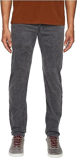 Billy Reid Garment-Dyed Slim Jeans in Charcoal