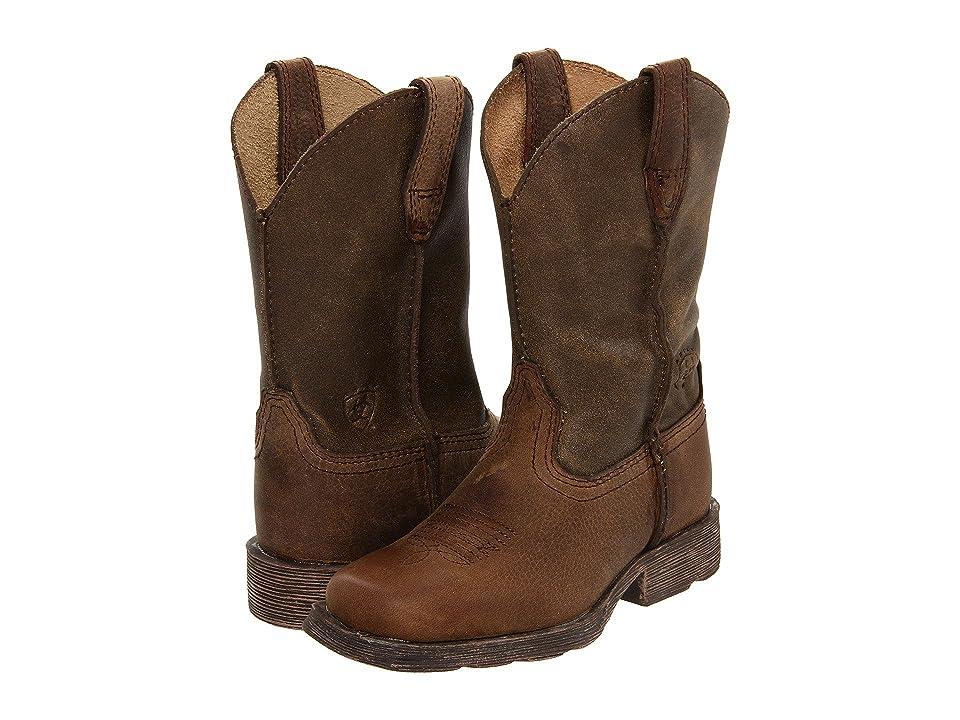 Ariat Kids Rambler (Toddler/Little Kid/Big Kid) (Earth/Brown Bomber) Cowboy Boots