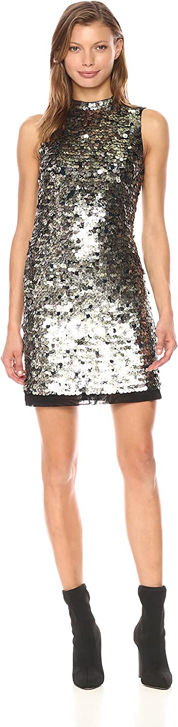 French Connection Womens Moon Rock Sparkle Dress Dress