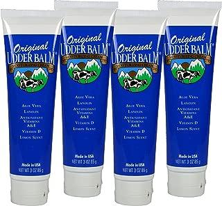 Original Udder Balm Moisturizing Cream 3oz Tube 4 Pack