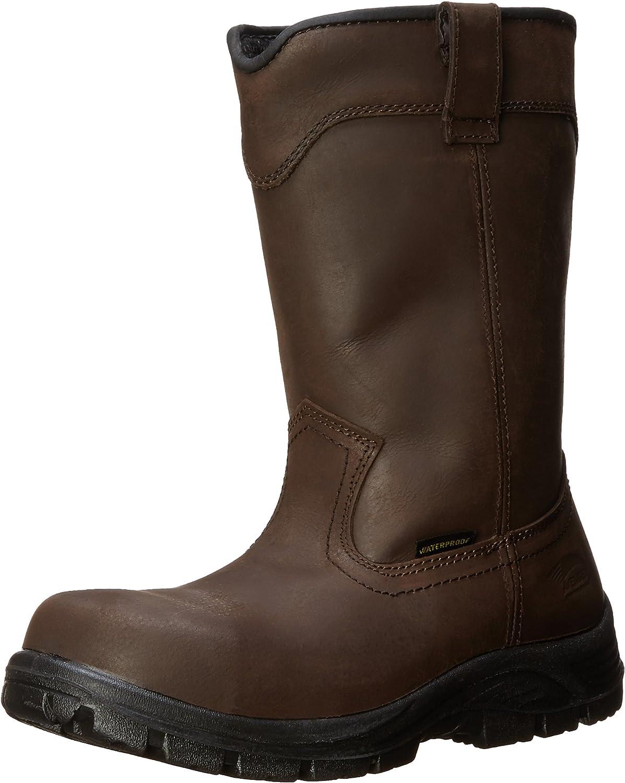 Avenger Safety Footwear Men's 7846-M, Brown, 8 Wide