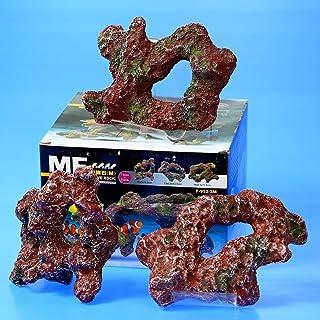 Dr. Marine 3 pcs Live RockCeramic (M) Imitation Coral Reef Aquarium Decoration Marine Cichlids Fish Tank