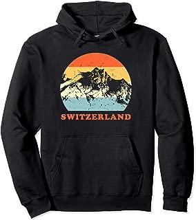 Switzerland Vintage Mountain Lovers Throwback Gift Hoodie