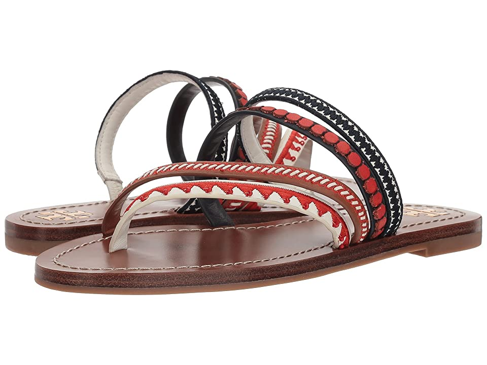Tory Burch Patos Embroidered Sandal (Perfect Cuoio) Women