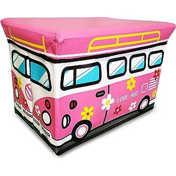 Caja de juguetes con tapa (extraíble), ofrece mucho espacio para guardar los juguetes, se puede utilizar como caja plegable con tapa: Amazon.es: Bricolaje y herramientas