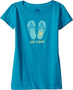 Life is Good Kids - Sunray Flip Flops Crusher Tee (Little Kids/Big Kids)