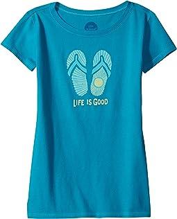 Life is Good Kids - Sunray Flip Flops Crusher Tee (Little Kids/Big Kids)