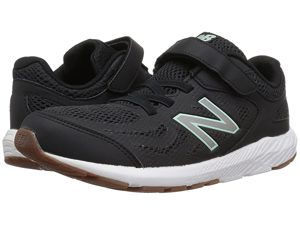 New Balance Kids KV519v1Y (Little Kid/Big Kid) (Black/Seafoam) Girls Shoes