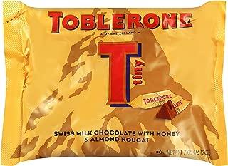 Toblerone Tiny Milk Chocolate Bars, Milk Chocolate, with Honey and Almond Nougat 7.05oz, 12 Count