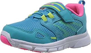 Stride Rite Girls' Made 2 Play Taylor Sneaker, Turquoise, 4.5 W US Toddler
