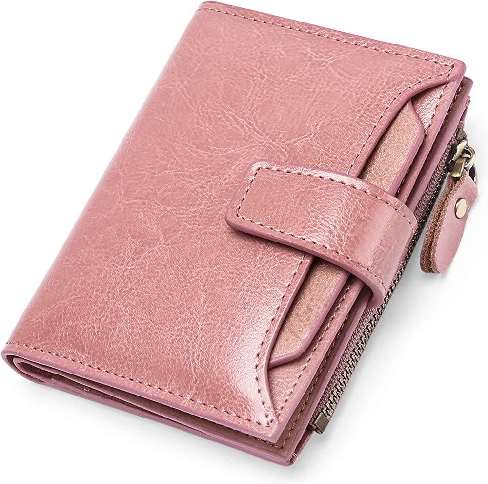 Sendefn, porta carte di credito, portafoglio da donna, protezione rfid, in vera pelle 5191A