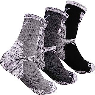 Calcetines de senderismo para hombre, acolchados al aire libre, recreación, calcetines para hombre de 6 a 14, 2/3 pares