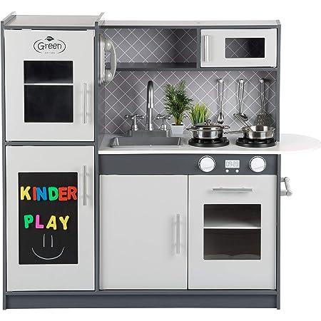 Gs0057 Children S Wooden Kitchen Children S Play Kitchen White Toy Kitchen Led Play Kitchen With Wooden Cabinets Extra Large Wooden Kitchen Children S Toy Wooden Sink With Tap Amazon De Spielzeug