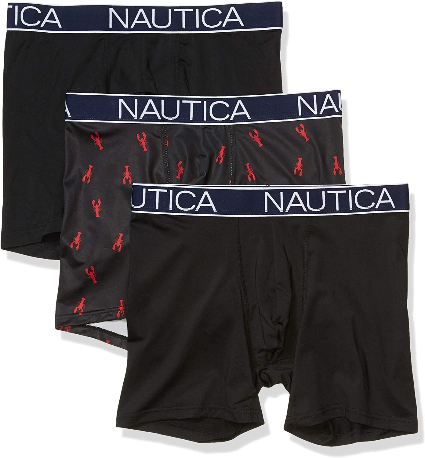Nautica Men's Directly managed store Brushed Poly Boxer 3 Pack Ranking TOP7 Brief