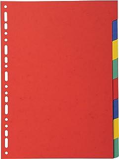 Exacompta - Réf. 2008E - Intercalaires en carte coloris vifs recyclée 220g/m2 avec 8 onglets neutres - Format à classer A4...