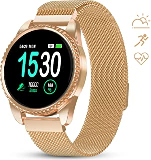 Smart Watch for Women Fitness Tracker with Heart Rate Blood Oxygen Monitor Pedometer Calories Sport SmartWatch Bluetooth Compatible with Android iOS