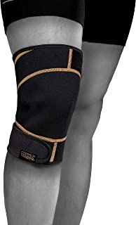 Copper Fit Rapid Relief Knee Wrap with Hold/Cold Therapy, Black