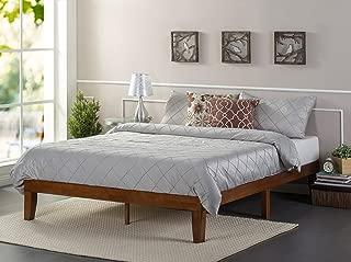 Zinus Wen 12 Inch Wood Platform Bed Frames / No Box Spring Needed / Wood Slat Support / Cherry Finish Full