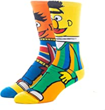 Bert And Ernie Bestie Mens 360 Character Crew Sock
