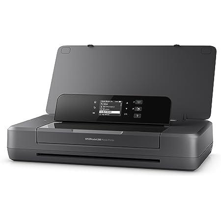HP OfficeJet 200 Mobile Stampante a Getto di Inchiostro, Display LED, Wi-Fi, Wi-Fi Direct, App HP Smart, USB, Nero
