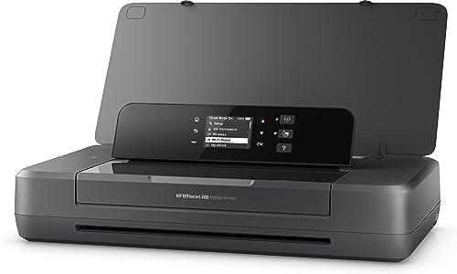 HP OfficeJet 200 Imprimante à Jet d'encre Mobile (A4, Imprimante, WLAN, HP ePrint, Airprint, USB, 4800 x 1200 dpi) Noir