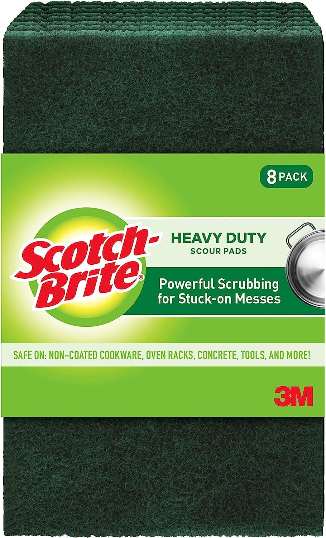 Scotch-Brite Heavy Duty Scour, 8 Pads, 8 Pads, Green, 8 Pads : Patio, Lawn & Garden