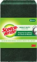 Scotch-Brite Heavy Duty Scour Pads, Ideal For Garden Tools and Grills, 8 Count (Pack of 1), Green