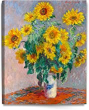 DECORARTS Monet Sunflowers, Claude Monet Art Reproduction, Giclee Canvas Prints Wall Art..