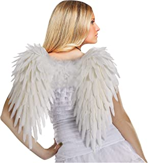 Costumes Women's White Deluxe Feather Angel Wings