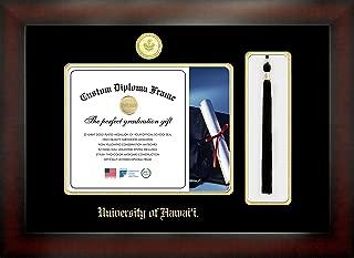 Celebration Frames University of Hawai'i 8 x 10 Mahogany Finish Infinity Diploma Frame with Tassel Box