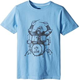 Life is Good Kids - Gorilla Drumming Crusher Tee (Little Kids/Big Kids)