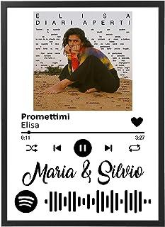 Quadro Musica interattivo con codice Spotify Personalizzata con Cornice - Quadro varie dimensioni vari colori Made in Ital...