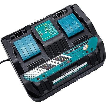 WaxPar 最新互換マキタ 2口充電器DC18RD 18V/14.4V バッテリー bl1430 bl1440 bl1450 bl1460 bl1830 bl1840 bl1850 bl1860 bl1430b bl1460b bl1860b bl1830b bl1850bなど充電可 2本同時に充電可 本体のみ 充電完了メロディー 保護回路内臓、過電流保護機能、過充電防止機能付き USB 電源端子2口付き