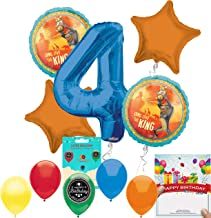 Lion King Party Supplies 4th Birthday Balloon Decoration