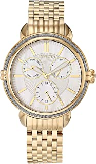 Invicta Women's Wildflower Quartz Watch with Stainless Steel Strap, Gold, 16 (Model: 30849)