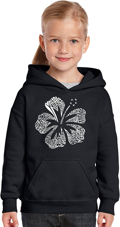 Mahalo LA Pop Art Girls Word Art Hooded Sweatshirt