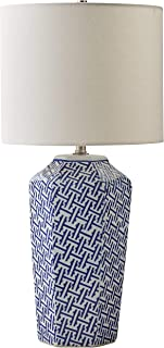 white and blue nightstand