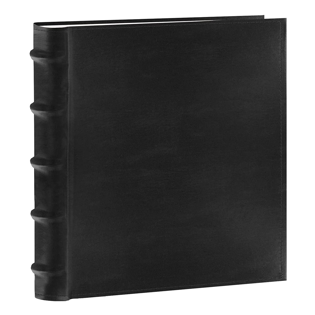 Pioneer Photo Albums 200-Pocket European Bonded Leather Photo Album for 4 by 6-Inch Prints, Black