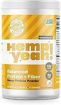 Manitoba Harvest Hemp Yeah! Balanced Protein + Fiber Powder, Unsweetened, 16oz, with 15g protein, 8g Fiber and 2g Omegas 3...