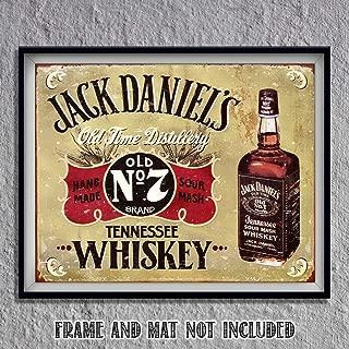 Jack Daniels Old No. 7- Vintage Sign Wall Art- 8 x 10