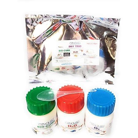 OZPOLISH Dry Trio by Aquatic Habitat   OZPOLISH Bio-Cure 50g + OZPOLISH O2 50g + OZPOLISH H2O 50g  for Aquarium Use Only   Dry, Net Weight 150g