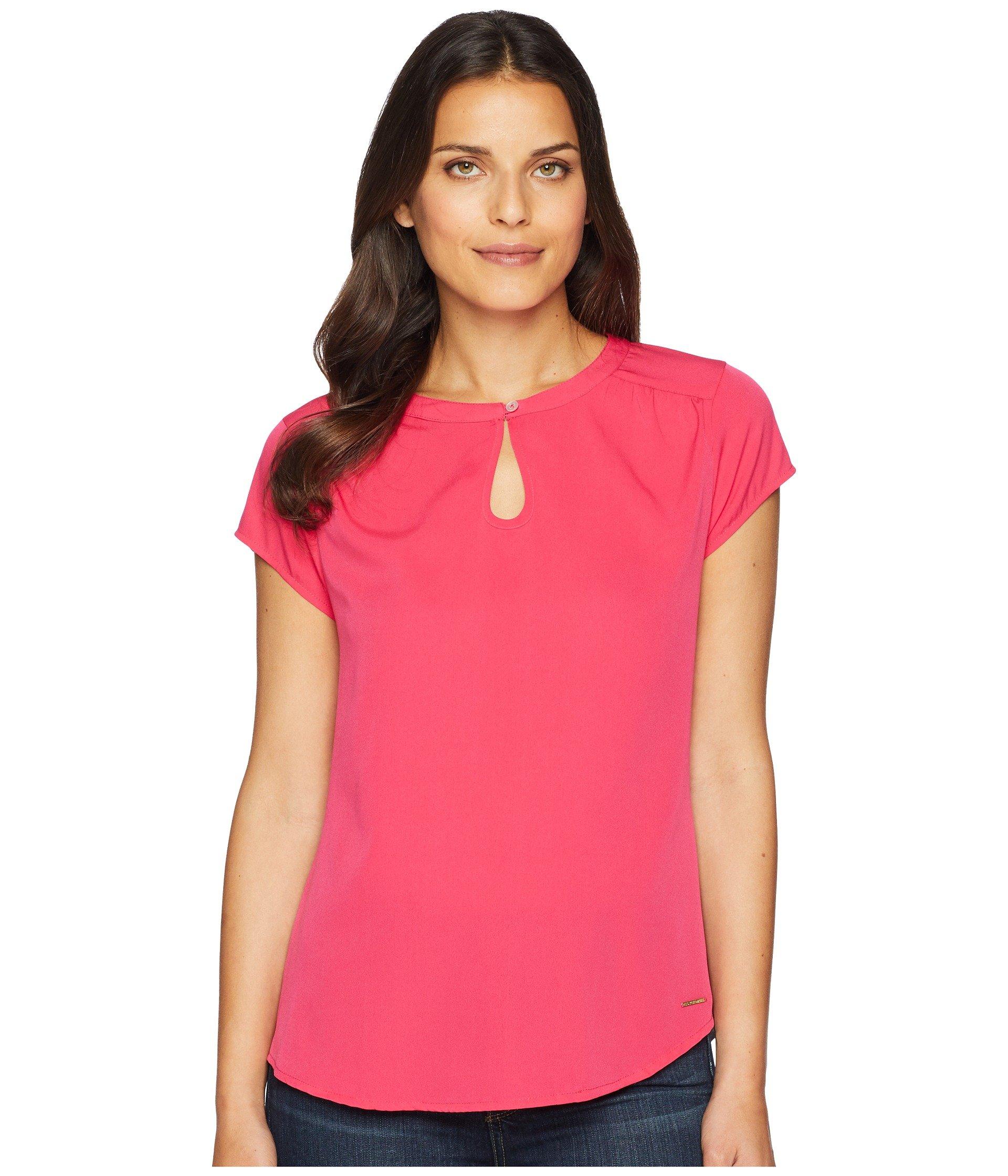 Blusa para Mujer U.S. POLO ASSN. Keyhole Knit Woven Shirt  + U.S. POLO ASSN. en VeoyCompro.net