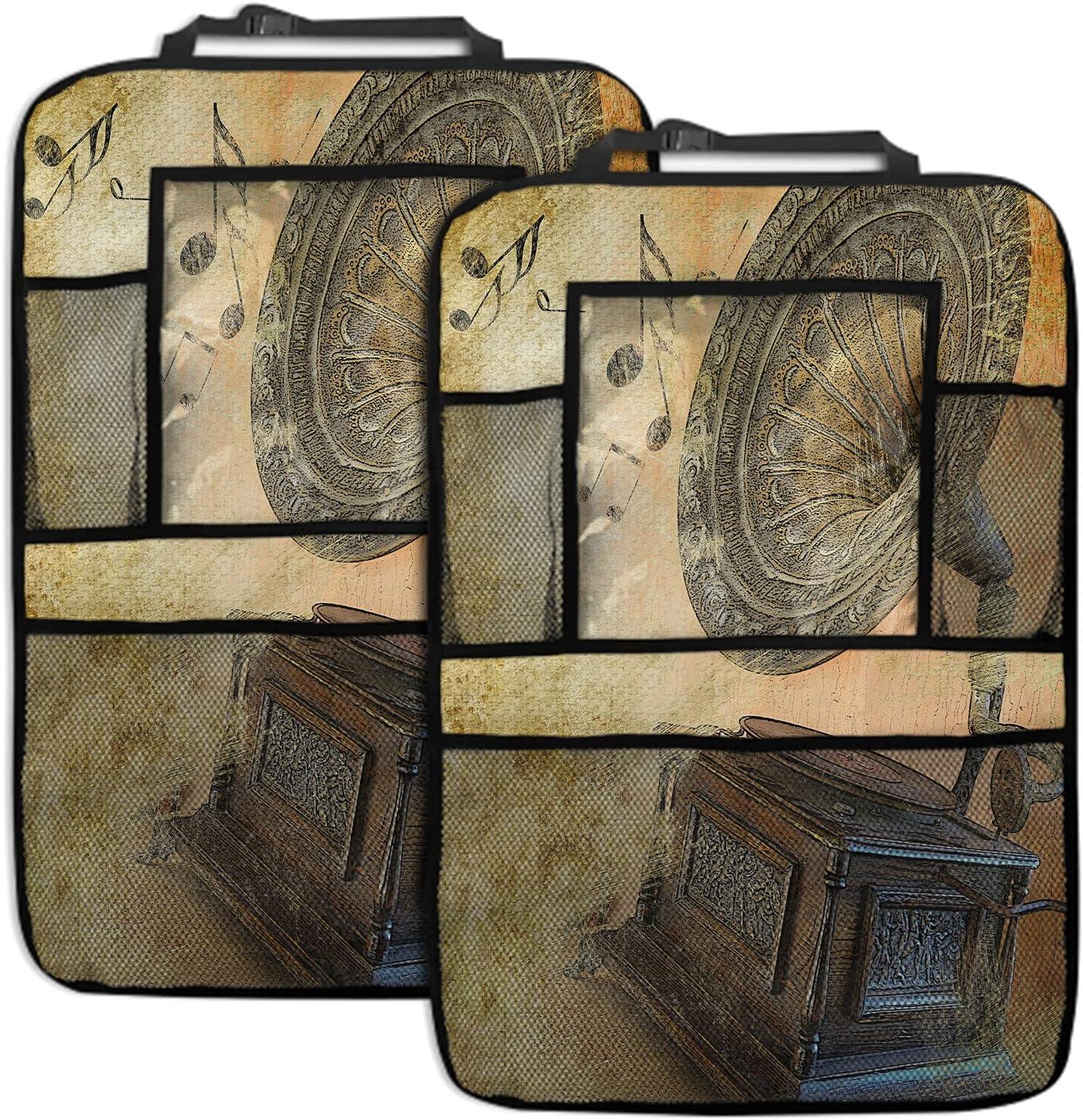 EKOBLA Gramophone 35% OFF 2 Pack Car Organizer Inch Seat Oklahoma City Mall Bac 19x27.5
