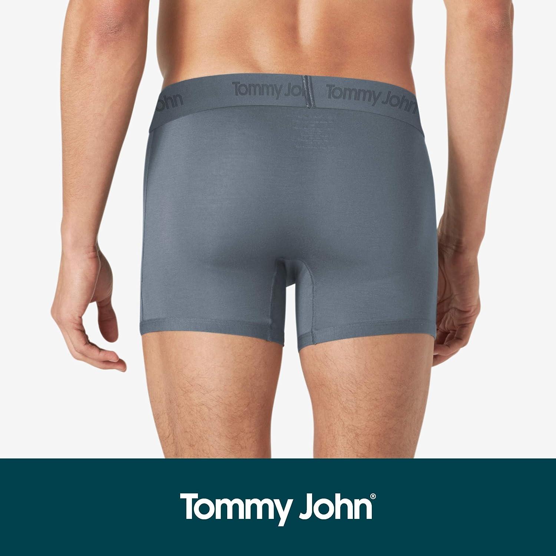 Tommy John Mens Second Skin Trunks Comfortable Breathable Soft Underwear for Men 3 Pack