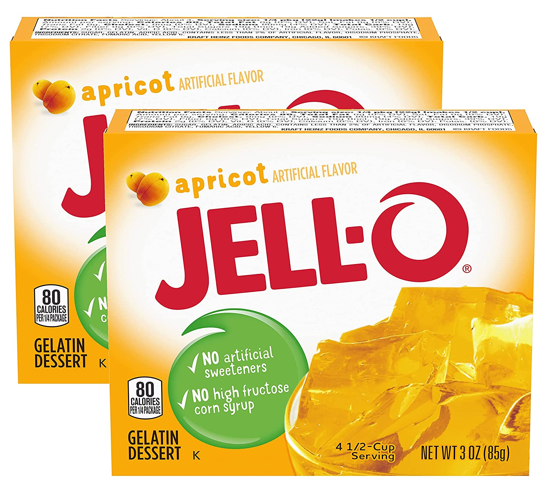 Jell-o Gelatin Oakland Mall Baltimore Mall Dessert Apricot of Pack 2