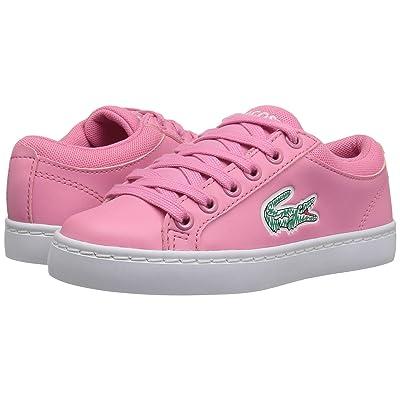 Lacoste Kids Straightset (Little Kid) (Pink/White) Kid