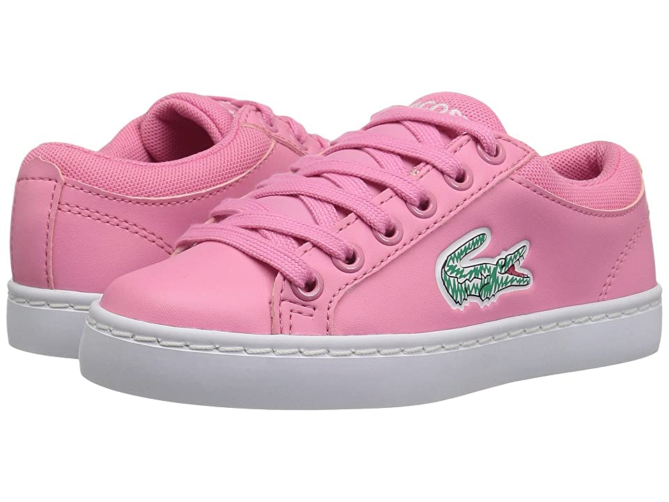 Lacoste Kids Straightset (Little Kid) (Pink/White) Kid