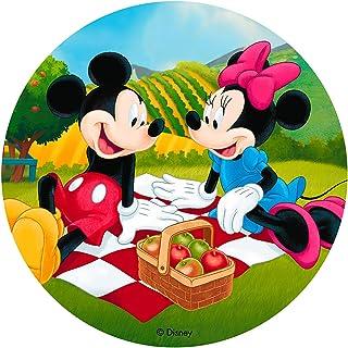 Dekora- Decoracion Tartas de Cumpleaños Infantiles en Disco de Oblea de Disney Mickey Mouse-20 cm (114394)